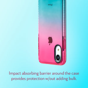 Barrier Case for iPhone XR - Blue n Pink Gradient Sunset