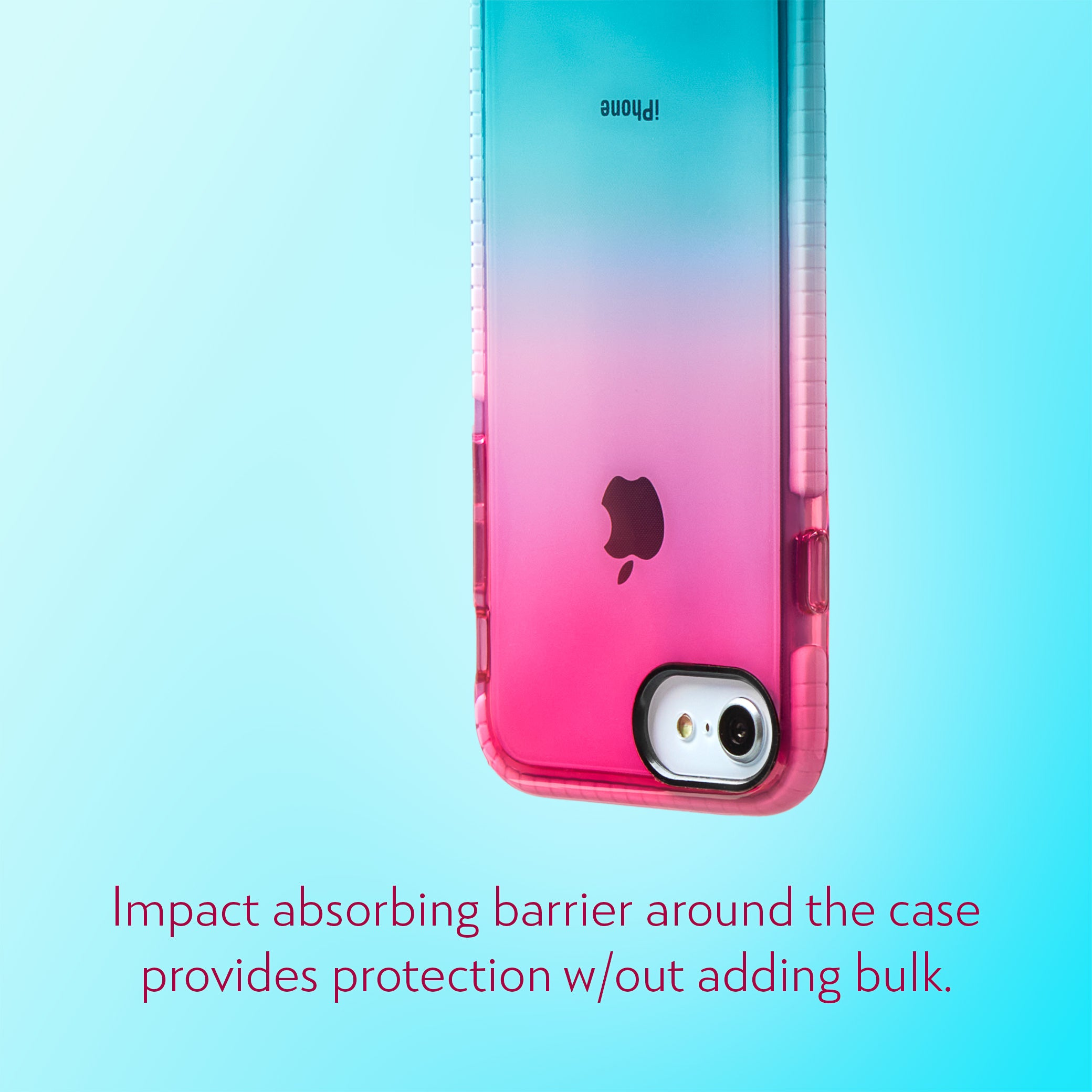 Barrier Case for iPhone SE, iPhone 8 & iPhone 7 - Blue n Pink Gradient Sunset