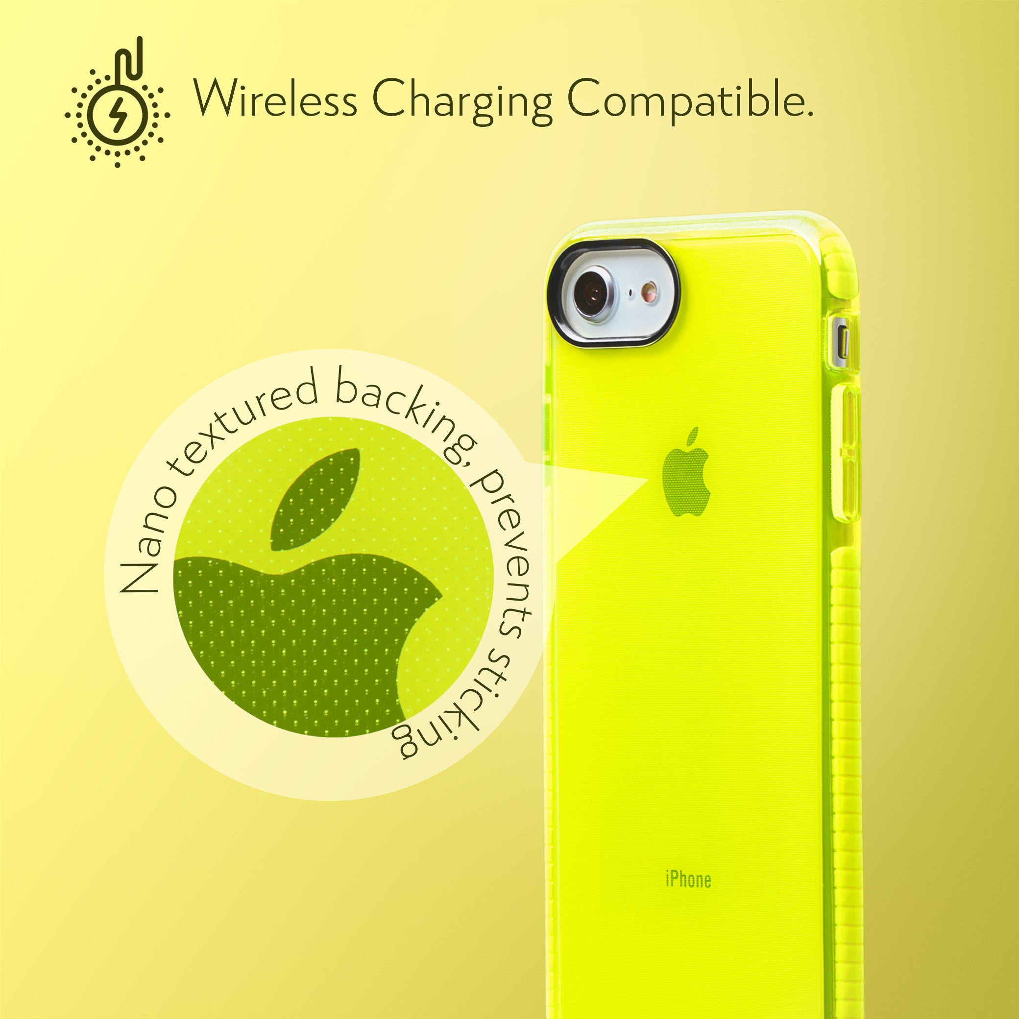 Barrier Case for iPhone SE, iPhone 8 & iPhone 7 - Hi-Energy Neon Yellow