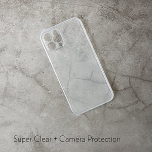 Super Slim Minimalist Case for iPhone 12 Pro - Crystal Clear