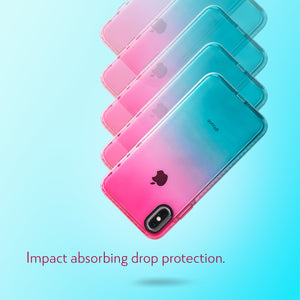 Barrier Case for iPhone Xs Max - Blue n Pink Gradient Sunset