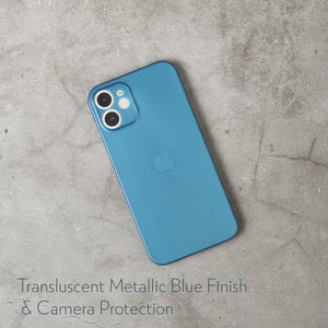 Super Slim Minimalist Case for iPhone 12 Mini - Frost Metallic Blue