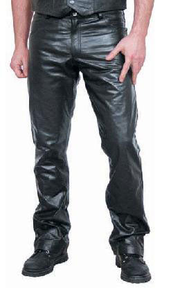 Button Fly Leather Pants