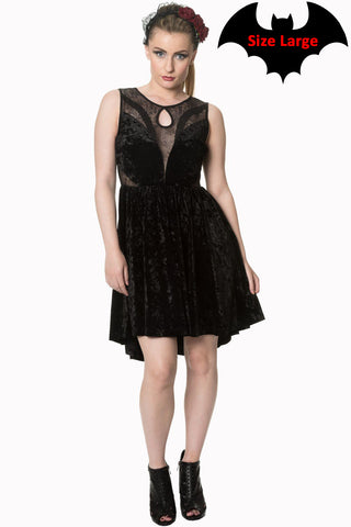 Shadow Angel Velvet Dress