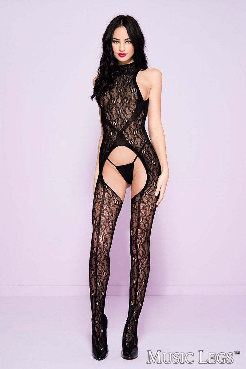 Lace High Neck Bodystocking
