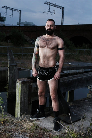 Rubber Latex Sporty Shorts