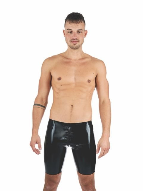 Rubber Lover Black Latex Shorts