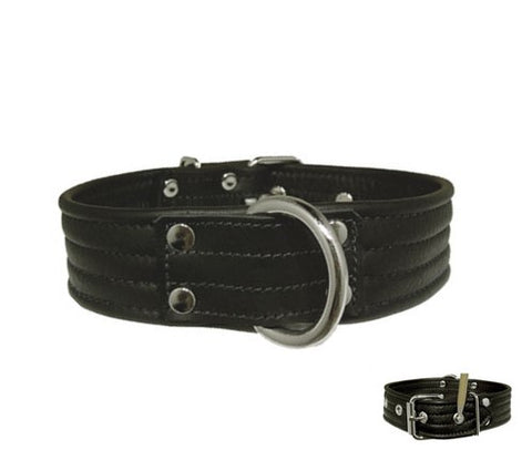 Garment Leather Locking Collar
