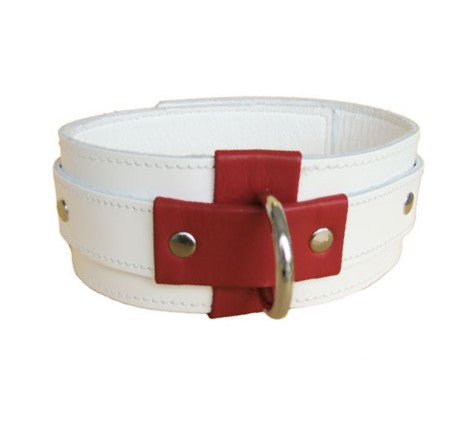 Leather Nurse Cross Collar
