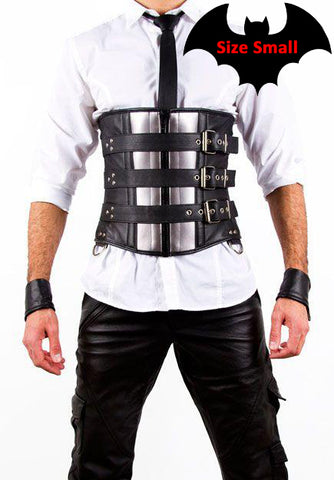 Men's Belted Leather Corset