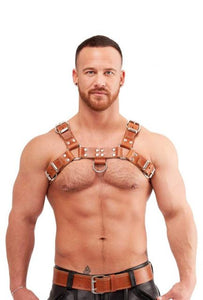 Brown Saddle Leather Chest Harness