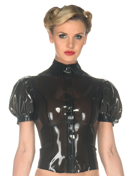Latex Alice Button Top