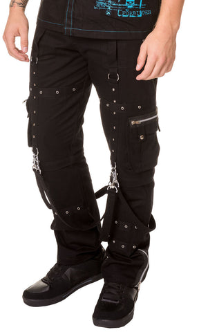 Black Bondage Pants With Zip Off Bottoms