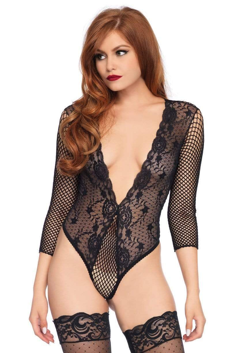 Net & Lace Teddy Bodysuit