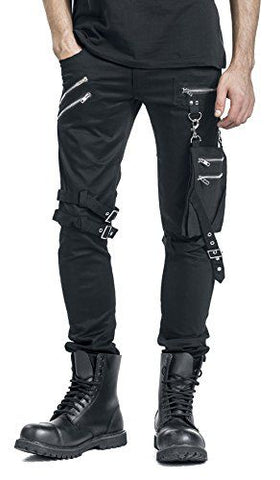 Black Pants with Detachable Leg Bag