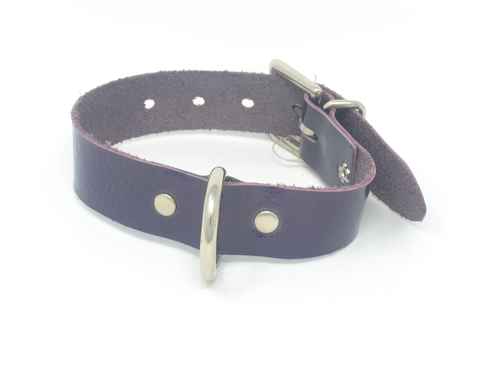 Purple Patent Leather Collar
