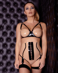 Boudoir Two-Tone Latex Bra
