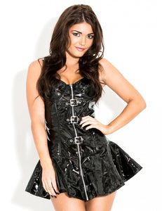 PVC Buckled Biker Dress