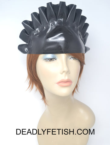 Deadly Fetish Instock Latex: Black Latex Maid Hat