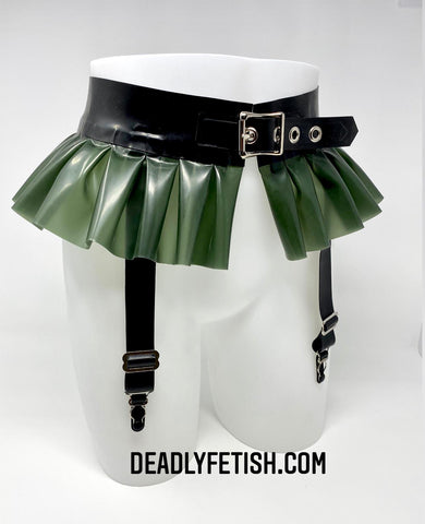 Deadly Fetish Made-to-Order Latex: Frill Garter