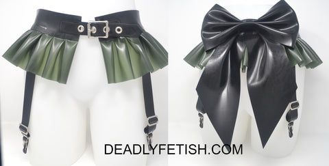 Deadly Fetish Instock Latex: Frill Garter with Bow