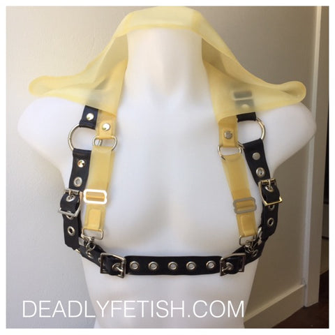 Deadly Fetish Instock Latex: Clip on Hood for Harness