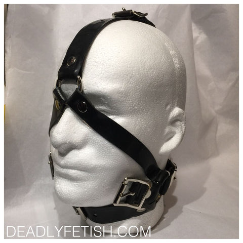 Deadly Fetish Made-To-Order Latex: Head Harness #02