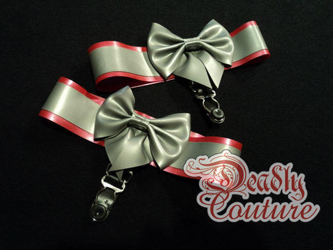 Deadly Fetish Made-To-Order Latex: Bow Thigh Garters