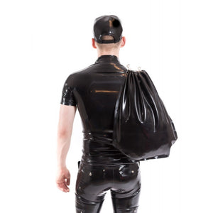 Black Latex Drawstring Bag
