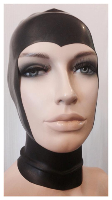 Latex Open Face Hood with Pointed Cut