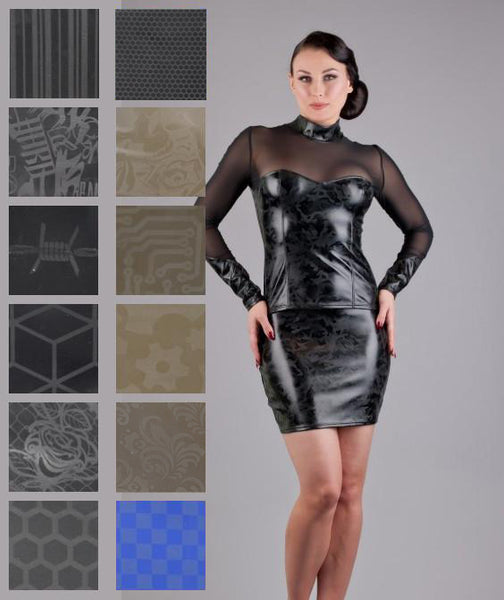 Latex Textured Mini Skirt