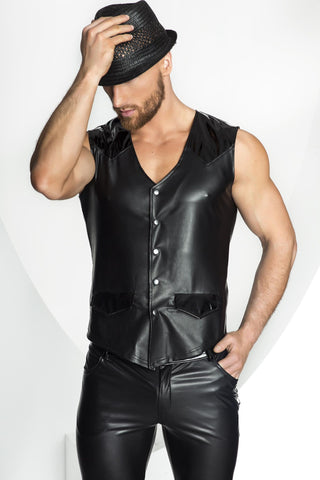 Matte Wetlook & PVC Vest