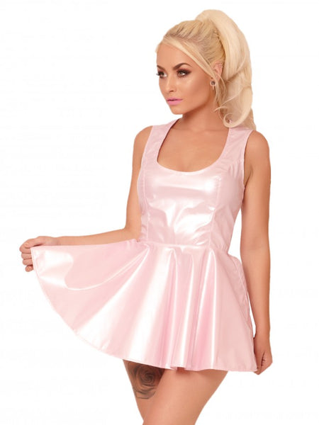 Pearlized Pink PVC Dress