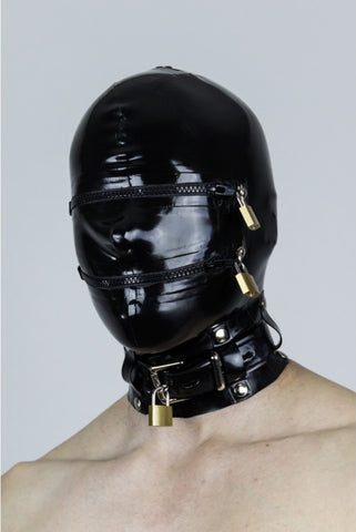 Heavy Gauge Latex  Bondage Hood