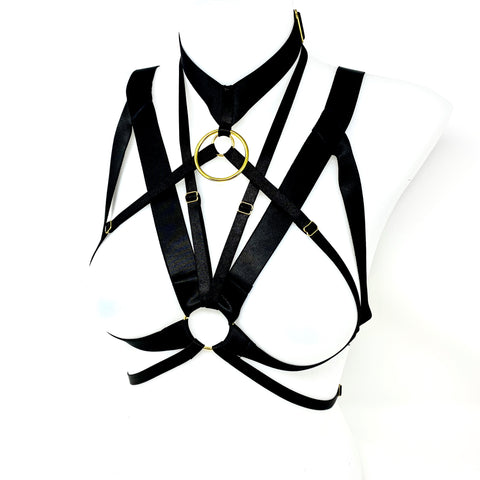 Black Elastic Harness with Large O-Ring
