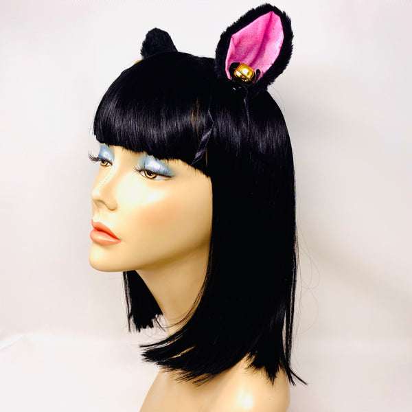 Clip-In Cat Ears with Bells