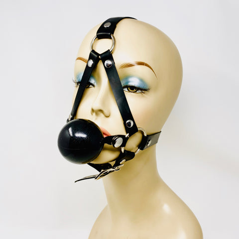 Latex Nemesis Basic Head Harness w/ Ball Gag