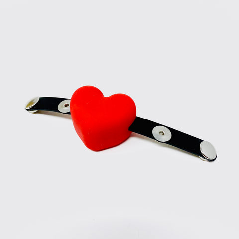 Latex Nemesis Heart Gag Attachment For Head Harness'