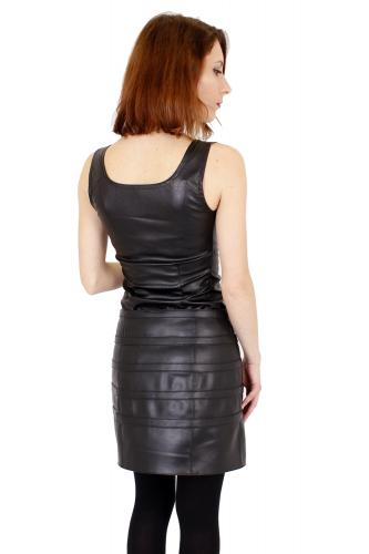 Multi Strap Buckle Vegan Leather Mini Skirt