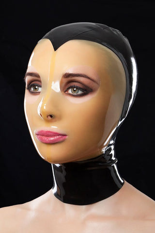 Translucent Face Latex Hood