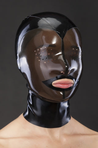 Translucent Latex Hood w/ Perforated Eyes