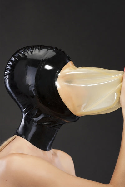 Two-Tone Latex Breathing Hood