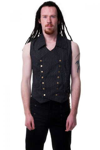 Pinstripe Double Breasted Vest