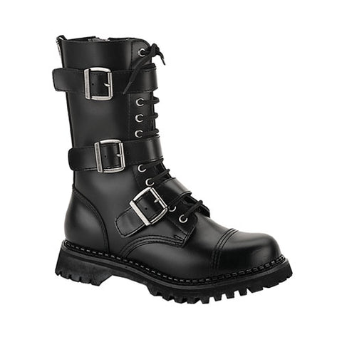Riot Short Leather Combat Boots