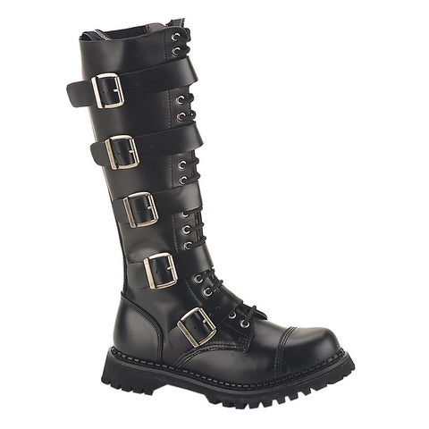 Tall Riot Leather Combat Boot