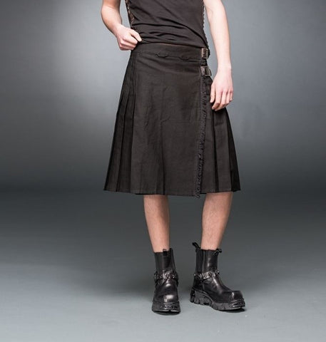 Dark at Heart Black Heavy Kilt