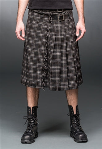 Knitted Plaid Kilt