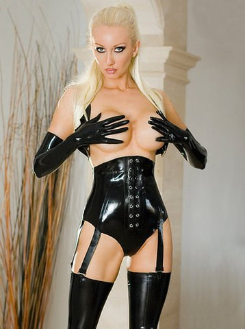 Control Latex Knickers w/ Suspenders