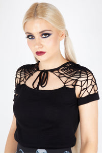Spiderweb Knit Top