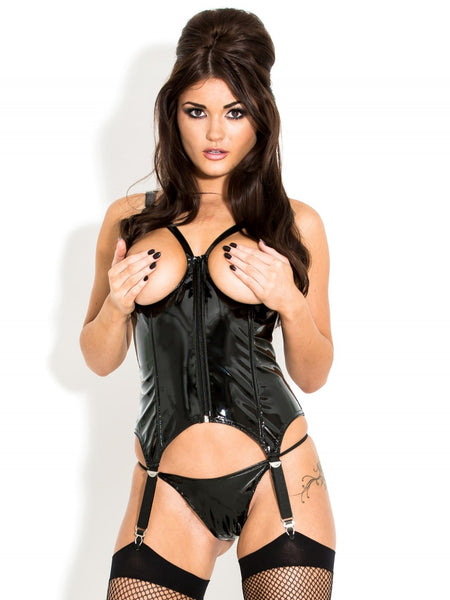 PVC Open Cup Frame Corselette